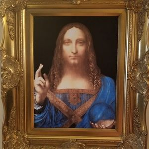 Framed canvas- Leonardo daVinci's Salvatore Mundi
